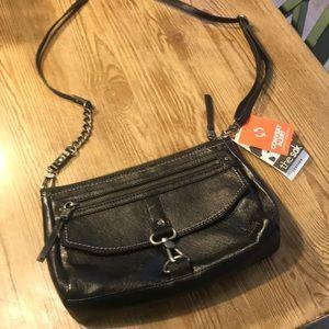 ❤️The Sac Ventura Crossbody Black Leather NWT~